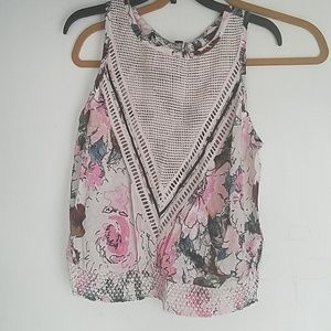 NWT Plenty by Tracy Reese Sz XS sleeveless- floral